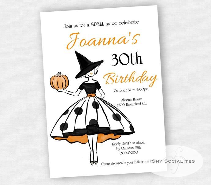 Fashionable Halloween Invitation