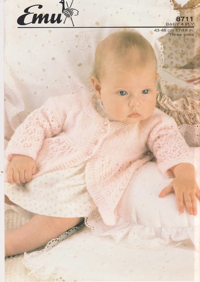 Instant PDF Digital Download Vintage Knitting Pattern to make Baby a Pretty Long