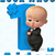 Personalized Iron-On Transfer Boss Baby Movie Look Whos 1 Birthday Party T Shirt