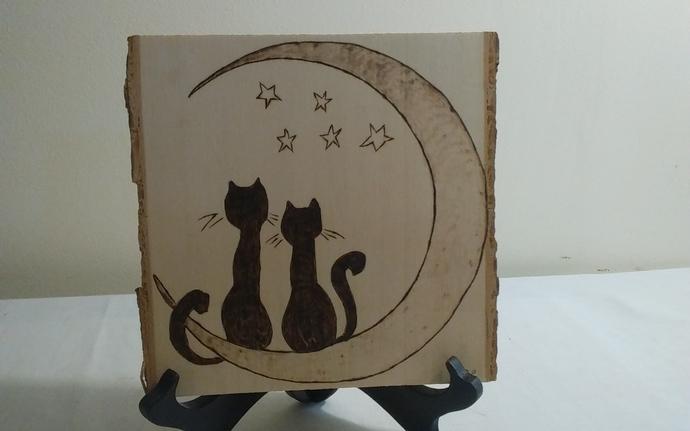 Cats on Moon Artwork