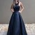 Cheap Black Beaded Prom Dresses Long A Line Formal Military Ball Gowns