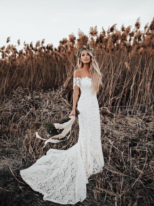 Ivory mermaid lace rustic wedding dresses illusion by lass on zibbet ivory mermaid lace rustic wedding dresses illusion neckline beach wedding dress junglespirit Images