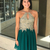 Short Green and Gold Homecoming Dress, Appliques Prom Dress with Beads