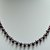 Red Garnet Teardrop & Round Shape Elegant Single Strand Beaded Necklace In 925