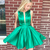 Short Homecoming Dress, Green Homecoming Dress