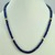 Original Round Blue Sapphire Single Strand Bead Necklace With 18K Gold Filled