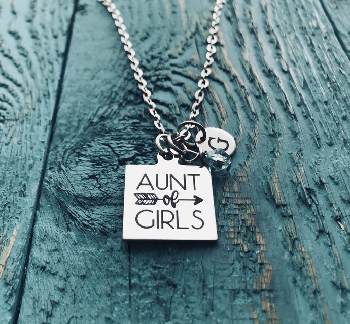 Aunt of Girls, AUNT NIECE GIFT, Sister, Aunt, Silver Necklace, Charm Necklace,