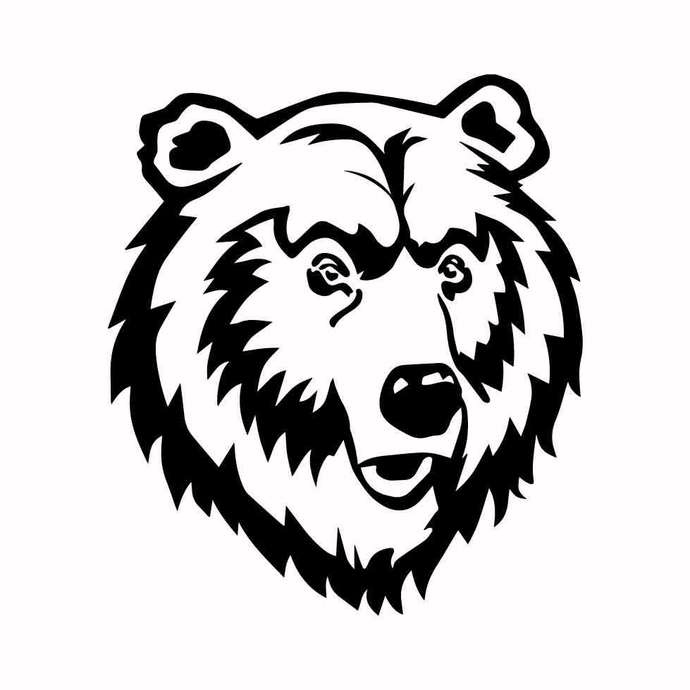 Grizzly Bear 03 graphics design SVG DXF PNG PDF AI EPS Vector Art Clipart