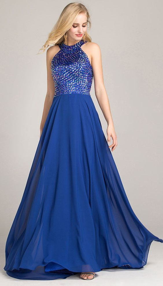 formal dresses,evening gowns,prom gowns,cheap prom dresses,blue ,Custom