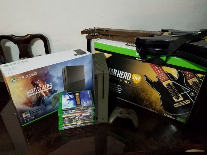 Xbox One S Battlefield 1 Military Green Special Edition 1TB. ***BUNDLE***