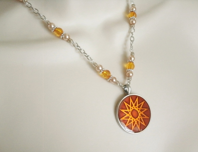 Elven Star Necklace wiccan pagan wicca witch witchcraft goddess celtic handmade