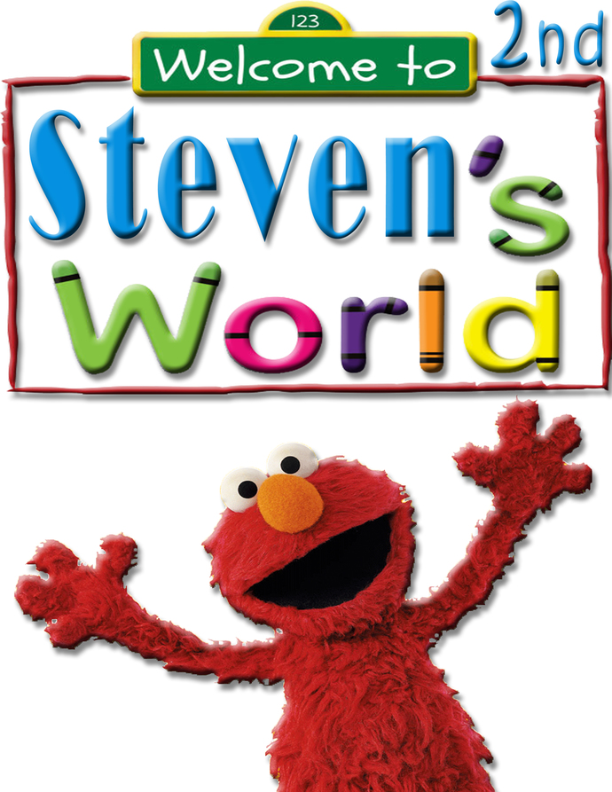Personalized Iron-On Transfer Elmo's World Birthday Party T Shirt with Name For