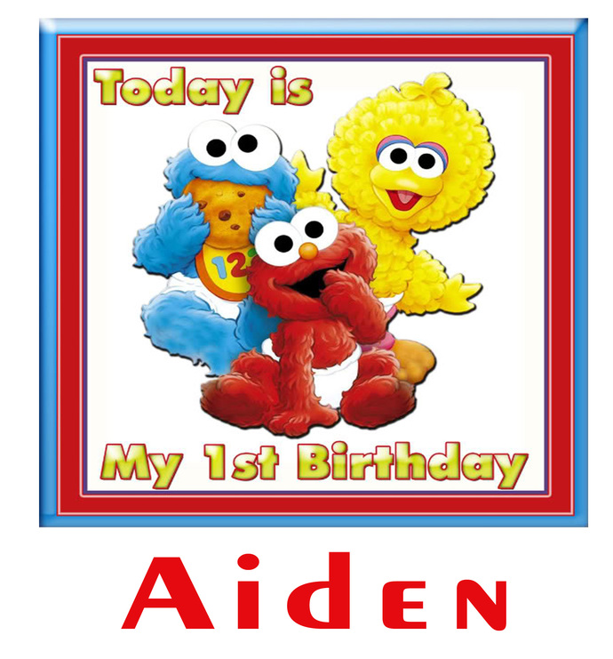 Personalized Iron-On Transfer Elmo Birthday Party T Shirt with Name For Family