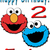 Personalized Iron-On Transfer Elmo Cookie Monster Birthday Party T Shirt with
