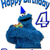 Personalized Iron-On Transfer Cookie Monster Birthday Party T Shirt with Name