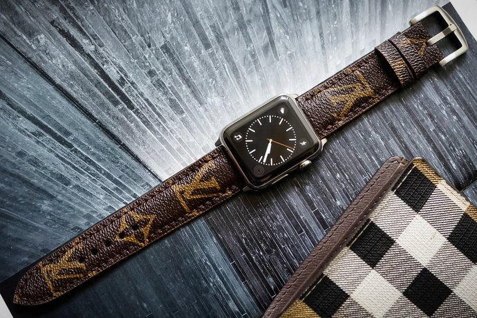 Handmade LV04 Leather Apple Watch Band For Apple Watch Series 1 & 2, Apple Watch