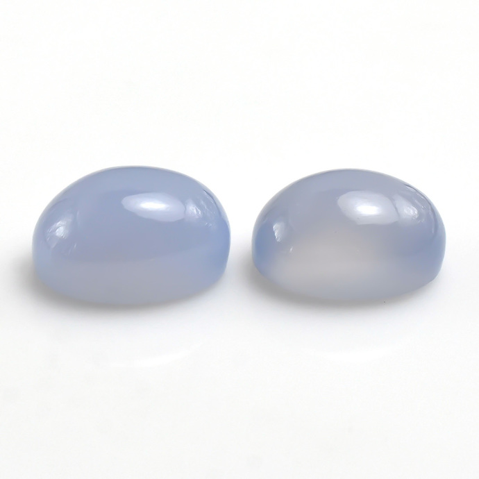 Natural Chalcedony Hand Polished Oval Cabochon Flawless Loose Gemstone