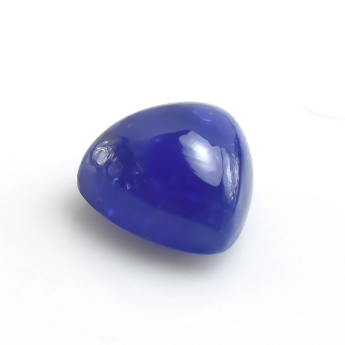 Tanzanite Smooth Hand polished Trillion Cabochon Semi Precious Loose Gemstone