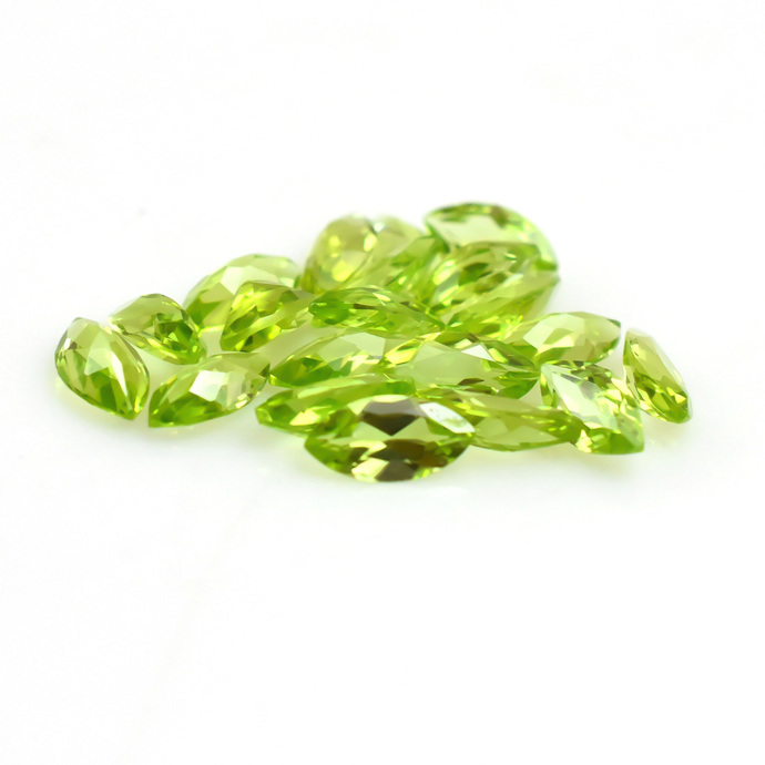Natural Peridot Faceted Marquise 8x4 Semi Precious Flawless Loose Gemstone