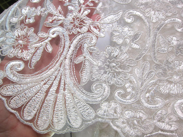 Ps bridal embroidered lace applique by natashascrapbookorner on