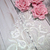 "3ps Bridal Embroidered Lace Applique Trim  - 11.5"" White"