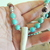 Genuine Deer Antler Necklace, Turquoise and Mahogany Obsidian Boho Jewelry