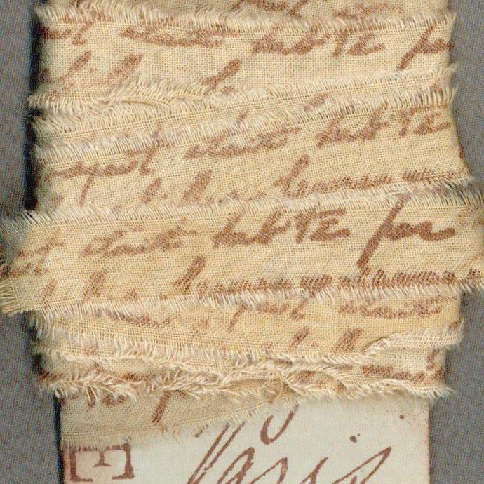 "6 yards, 3/4"" ribbon,hand torn muslin,tea dyed, fabric ribbon, Paris apt ,craft"