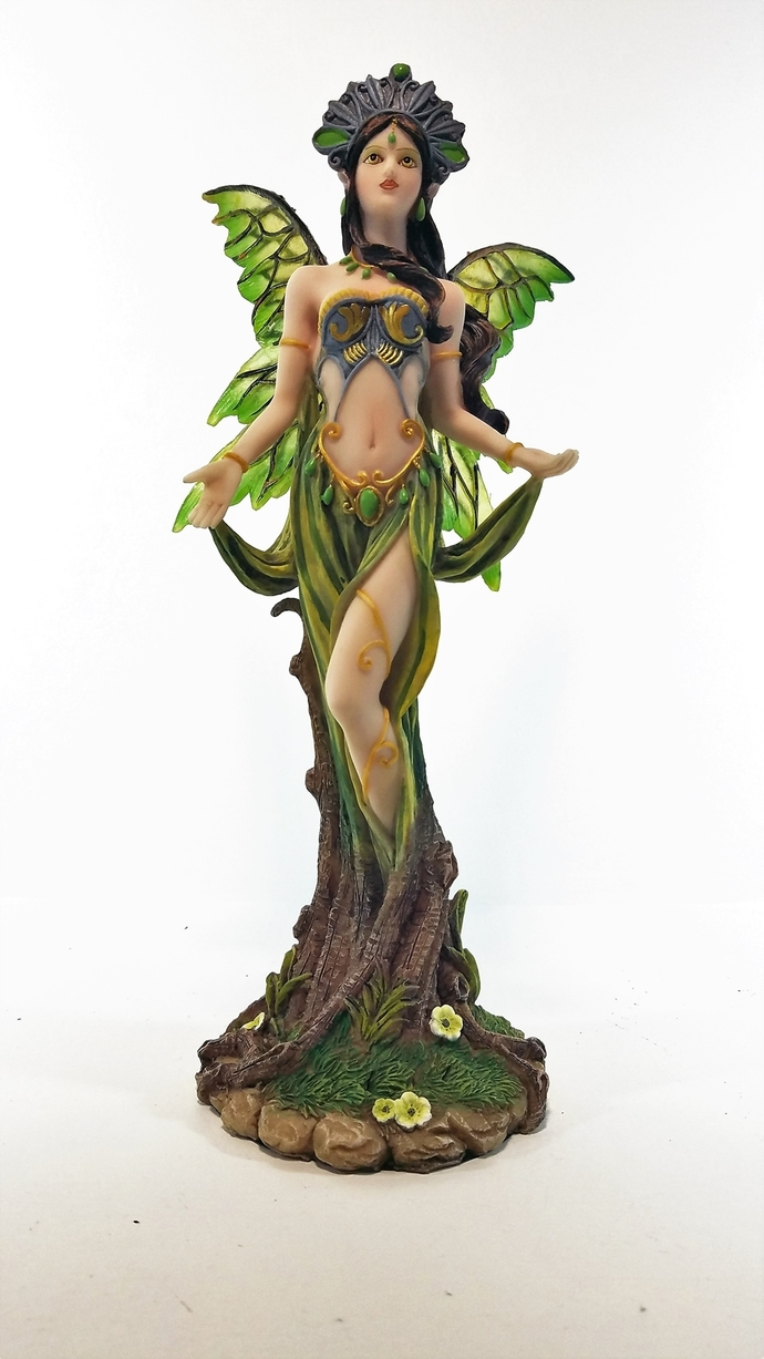 91199 Green Pixie Fairy Figurine Collecables by Backwoods Lighting LLC