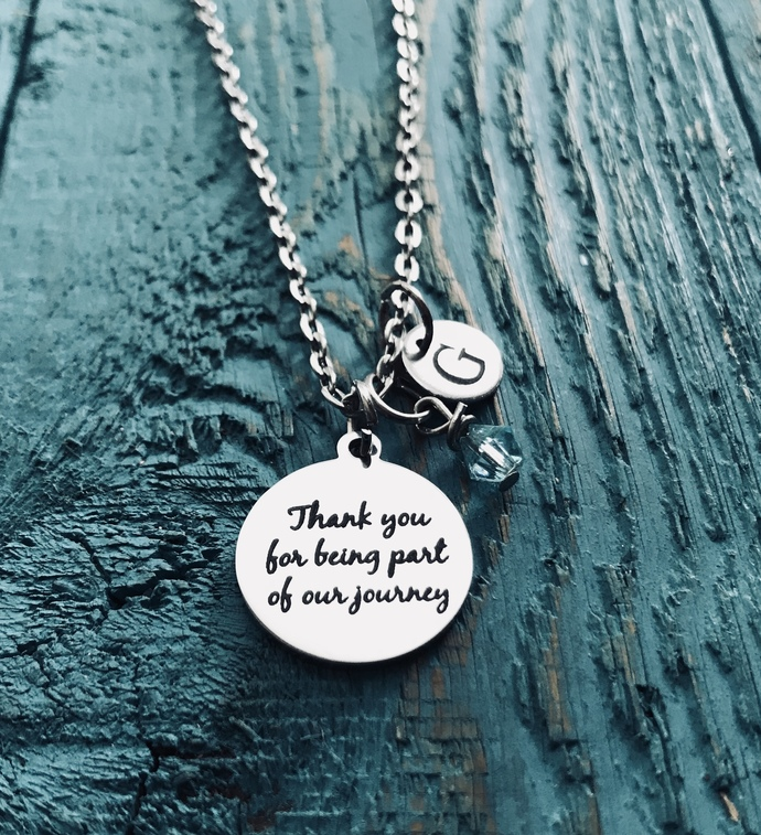 OUR journey, Thank you, wedding officiant, Thank you Gift, Thank you Jewelry,