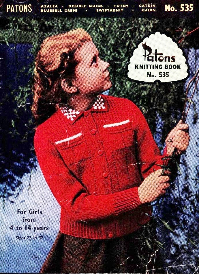 ALMOST FREE Instant PDF Download Vintage Knitting Pattern Booklet of 20  Pages to make Girls Sweaters Cardigans Jackets Chest 22-32