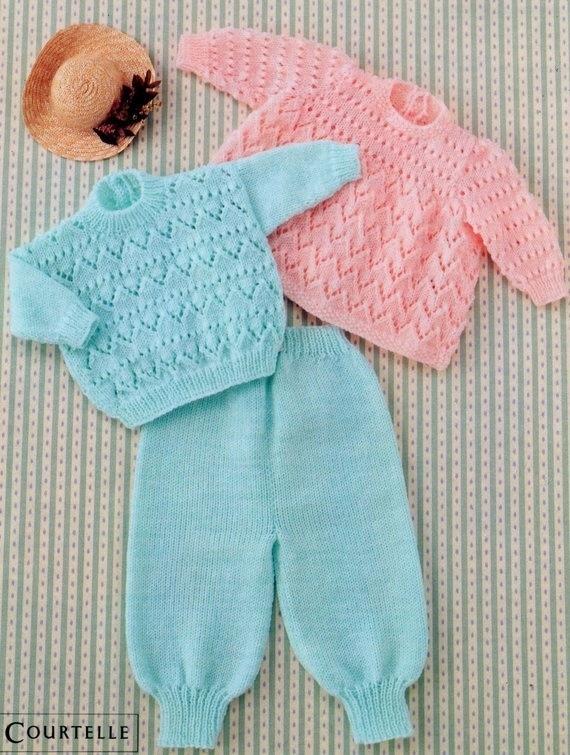 Instant DigitalDownload PDF Vintage  Knitting  Pattern to make A baby angel top,