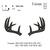 Set of 15 Deer Embroidery Designs, Deer Head Applique Designs, Deer Antlers