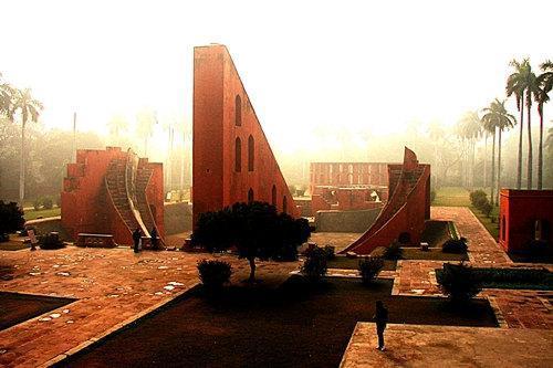 Misty Morning at the Jantar Mantar