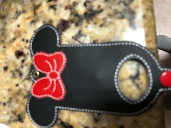 Minnie Mouse hand sanitizer holder