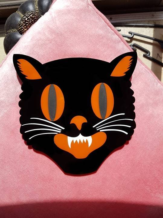 Jinx the Halloween Cat - Wall Hanging Pre-Order