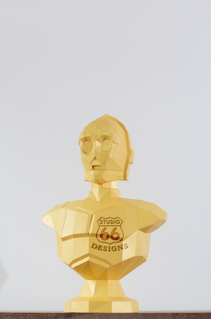 Papercraft Star Wars, Make your own C3PO Statue, Papercraft C-3PO, Paper Statue,