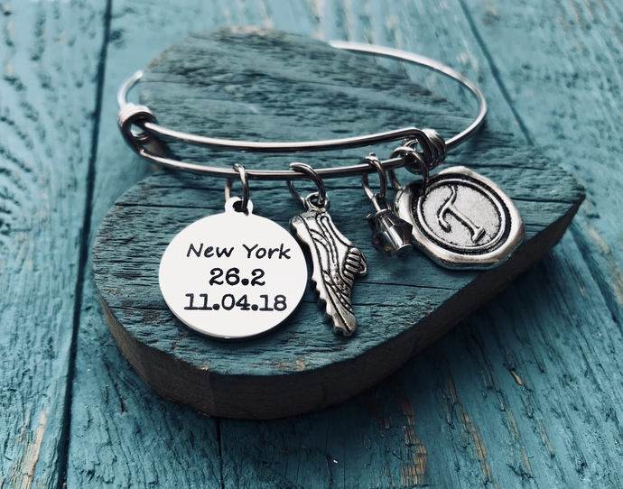 New York 26.2, Date, New York Marathon, Runner's, Running bracelet, Marathon