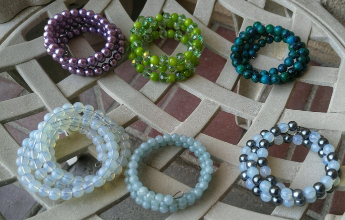 Memory Wire Bracelets- Various Colors