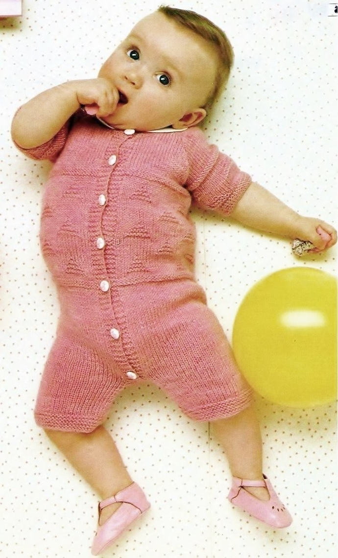 Instant PDF Download Chart Knitting Pattern to make an Easy Textured Baby Short