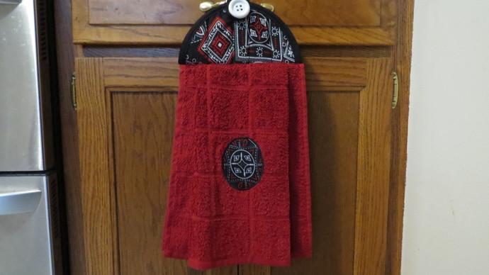 Hanging Kitchen Towel Handkerchief By Crystalscraftycorner On Zibbet
