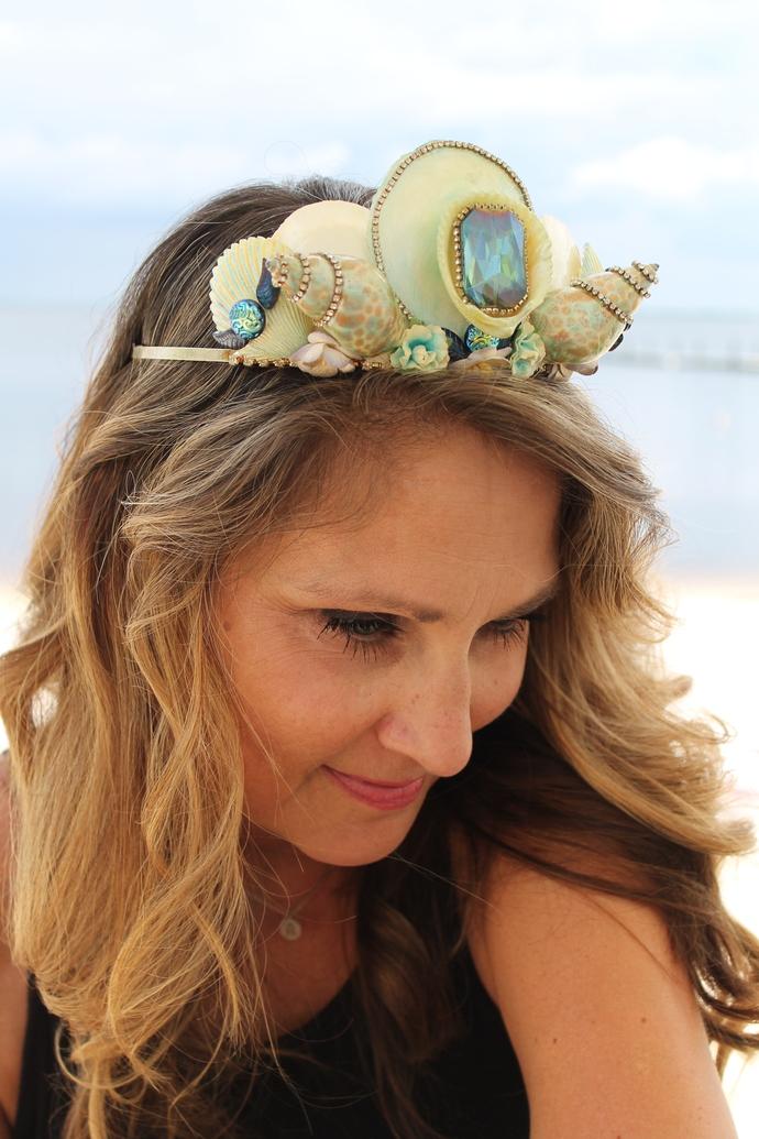 MerQueen Crown with Iridescent Stone