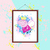 Peppa Pig watercolor, Peppa Pig print, Peppa Pig poster, wall decor, nursery