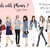 Watercolour fashion illustration clipart - Girls with Phones 2 - Light Skin
