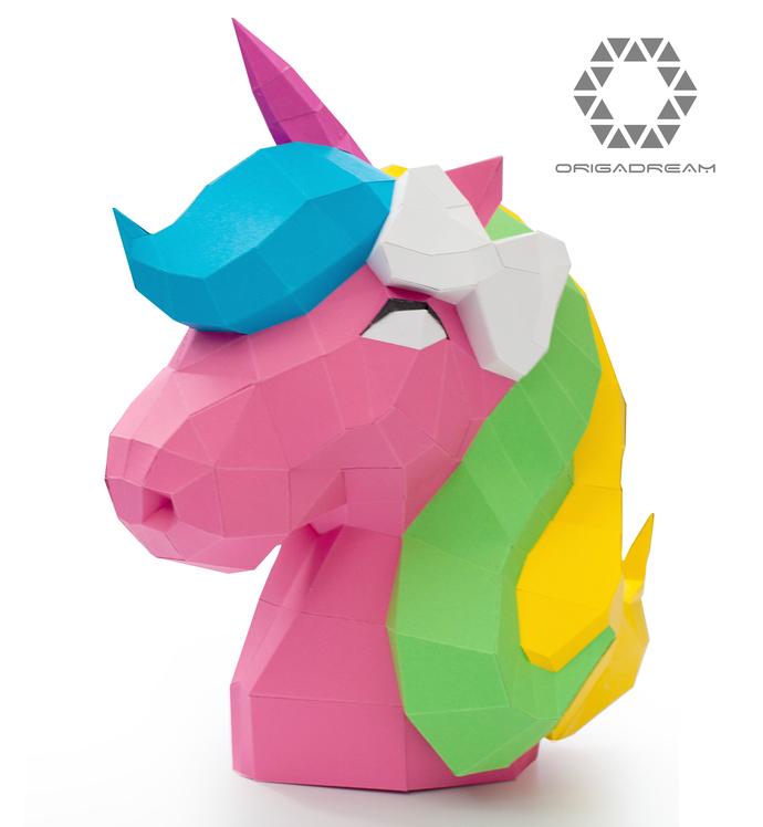 the cute unicorn diy papercraft precut by diy papercraft on zibbet