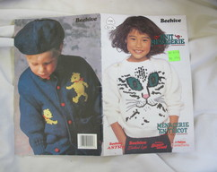 f2a57b2adf55 Patons Beehive Knit Menagerie Volume 1   Beehive Book no. 495   animal  themed knitting patterns   dinosaur sweater pattern
