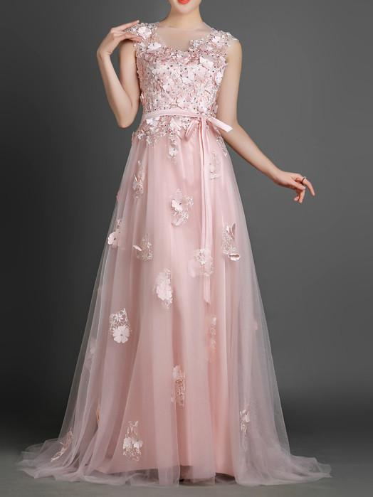 Blush Pink Long Formal Prom Evening Dress Blush Pink Long Formal Prom Evening