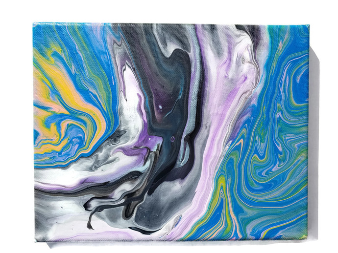 Acrylic pour painting, 8x10