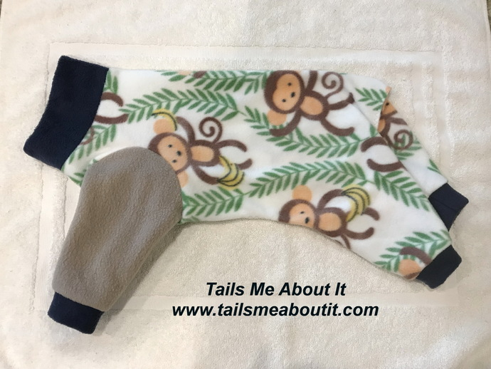 Monkeying Around Fleece Dog Pajama