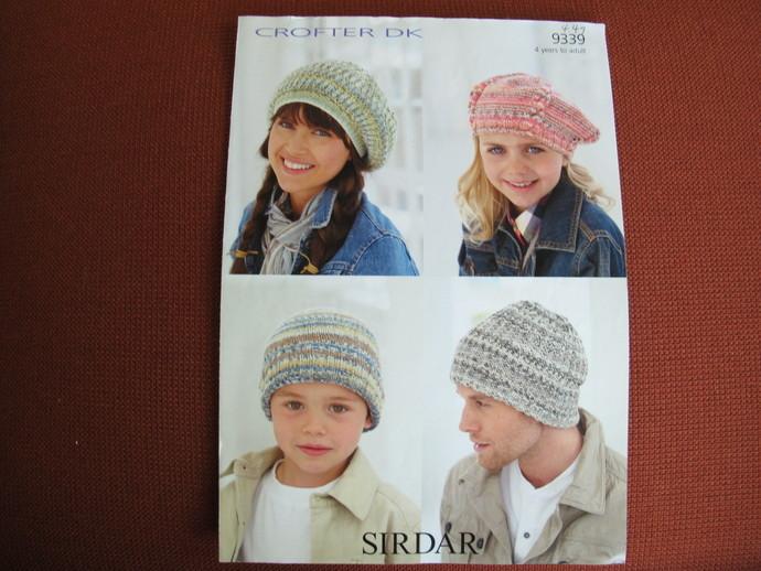 Hats in Sirdar Crofter DK - 9339 / slouch hat pattern
