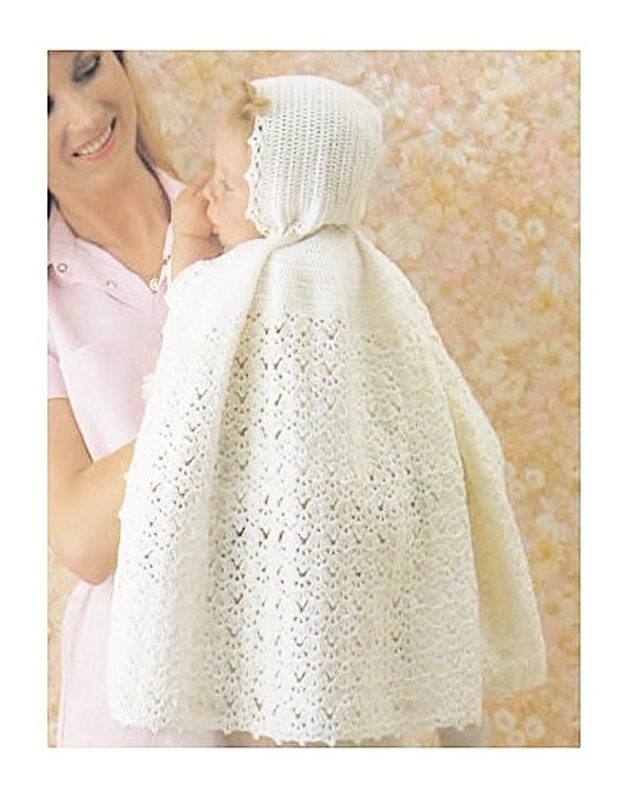 Instant PDF Digital Download Vintage Crochet Pattern to make Baby A Long Lacy